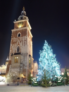 Christmas tree in old Krakow