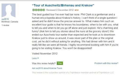 KRAKOW TOURS - 400th TripAdvisor Review
