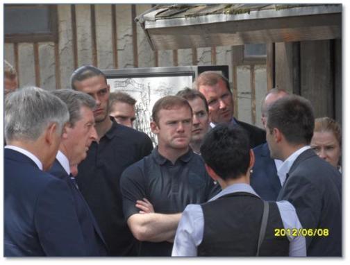 Wayne Rooney - 1 of 1,480,000 visitors to Auschwitz in 2012