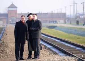 David Cameron at Birkenau