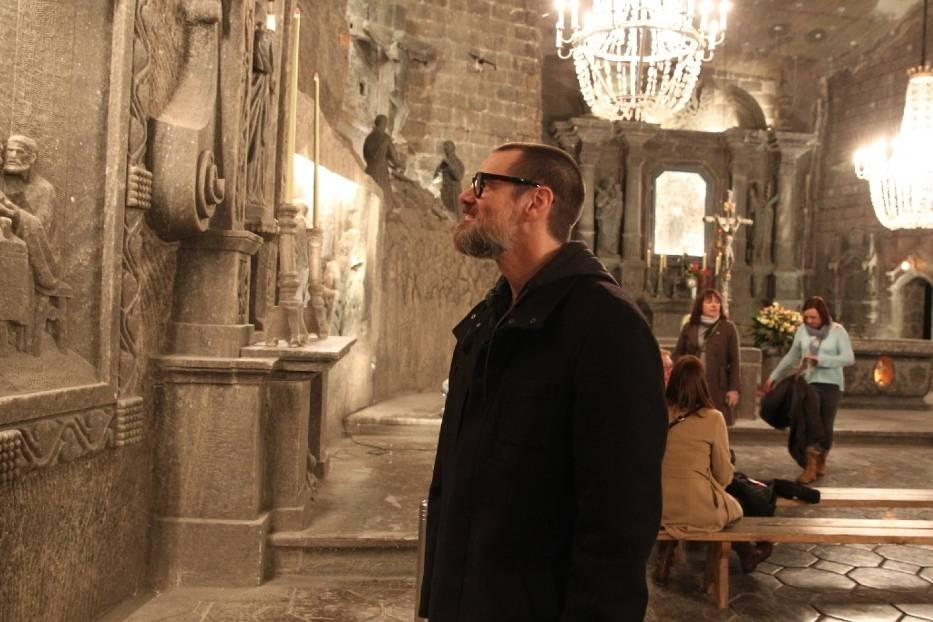 Jim Carrey in Wieliczka